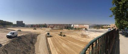 Obras de Urbanización Mahou Calderón a buen ritmo
