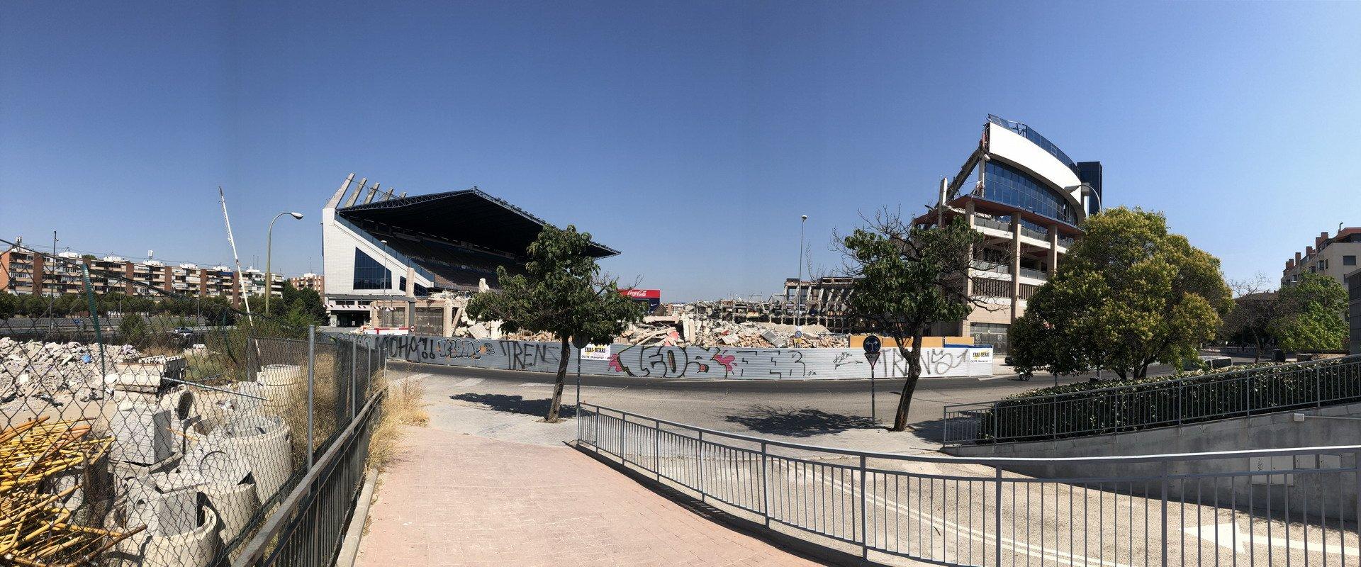 Obras de demolición Estadio Vicente Calderón